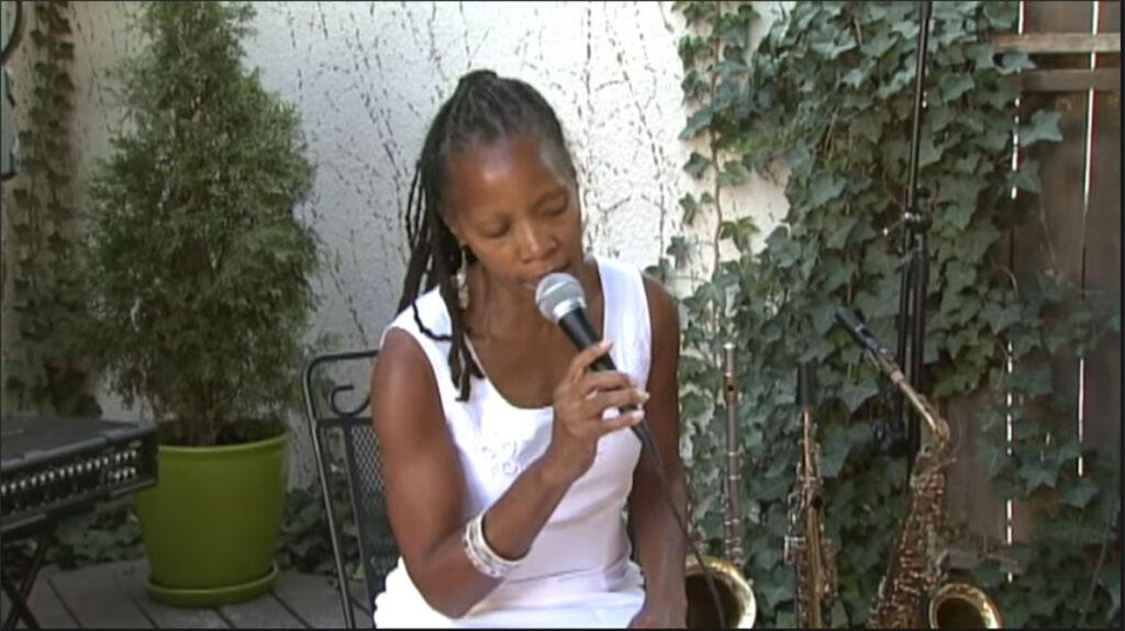 annual fun in the sun, sabrina sitting singing on stage8