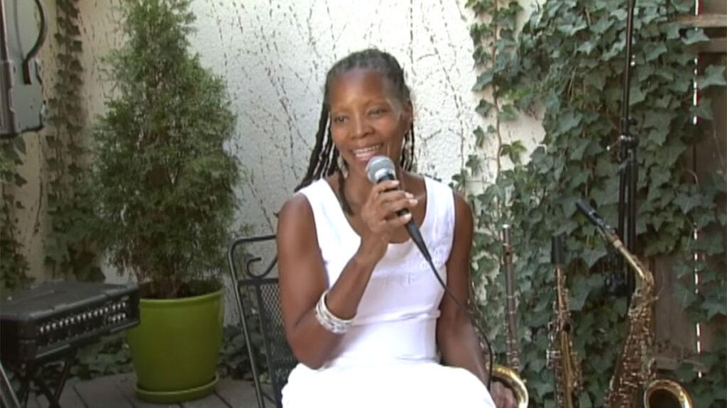 annual fun in the sun, sabrina sitting singing on stage2
