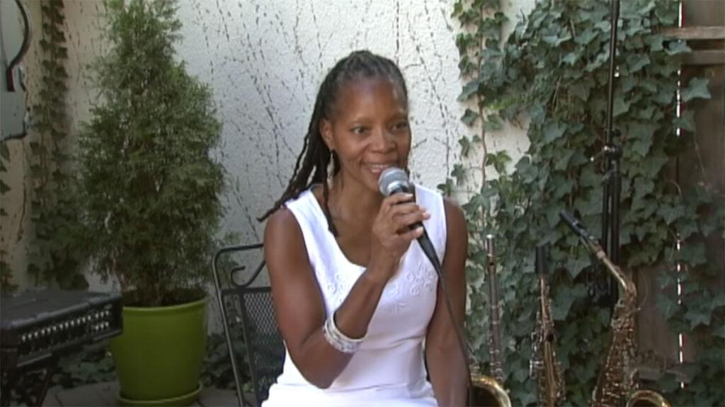 annual fun in the sun, sabrina sitting singing on stage3