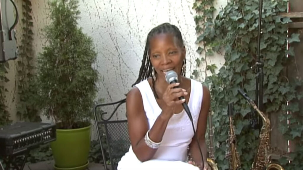 annual fun in the sun, sabrina sitting singing on stage5