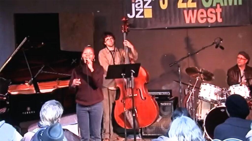jazz camp west performance, sabrina singing on stage, audience seated1