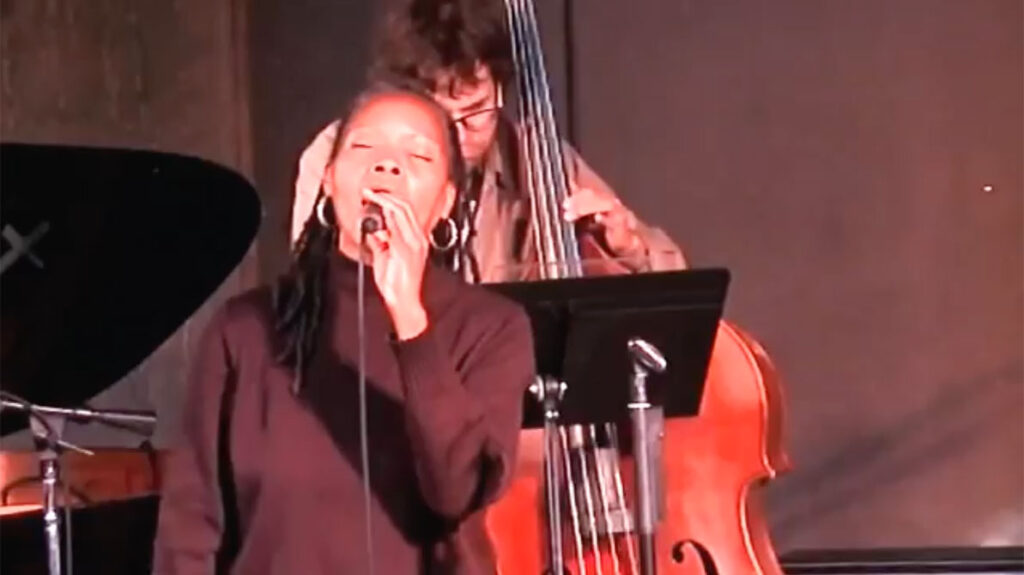 jazz camp west performance, sabrina singing on stage, audience seated4