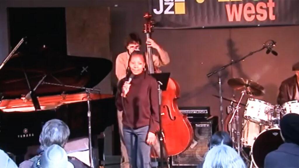 jazz camp west performance, sabrina singing on stage, audience seated6