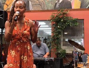 sabrina performing at africa market place
